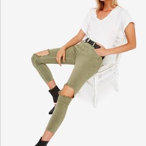 Free People Jeans - NWT Free People moss colored skinny jean